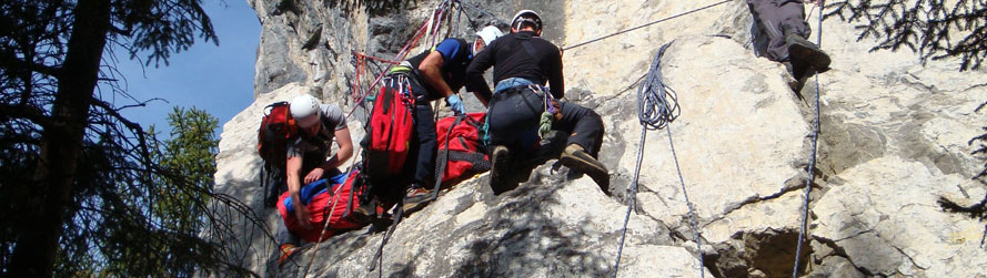 Bergung aus Kletterwand
